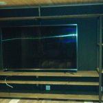 TVボードと飾り棚の特注鉄脚