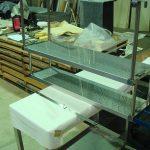 厨房仕様の棚製作