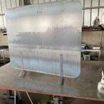薪ストーブの遮熱板