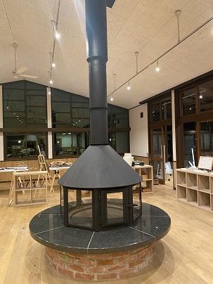フード型暖炉